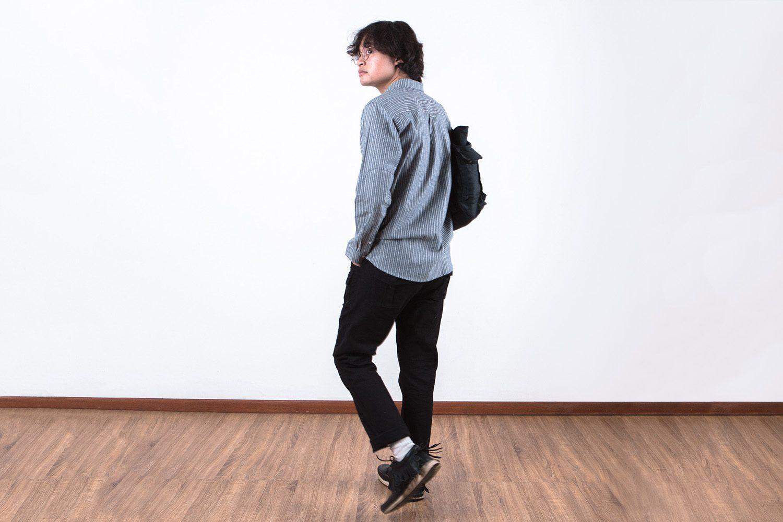 Neighbourlist_QUTNFW17__0007_Work Shirt II – Grey Striped Chambray (8)