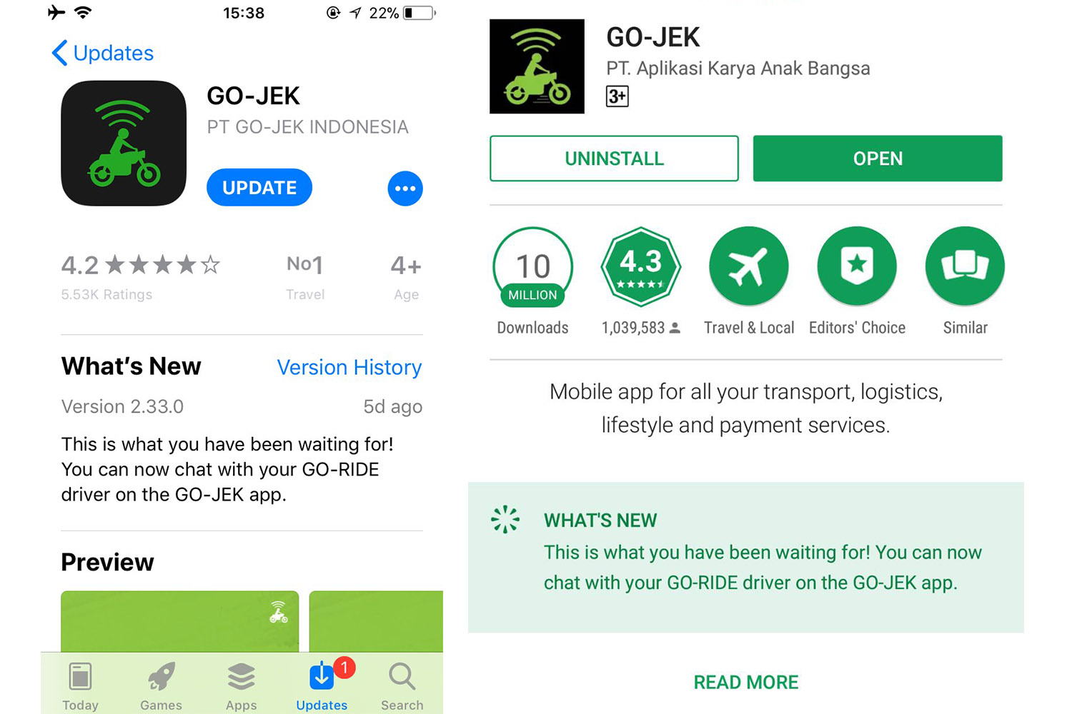 NHBL - GO-JEK Improves Their System by Adding In-app Messaging