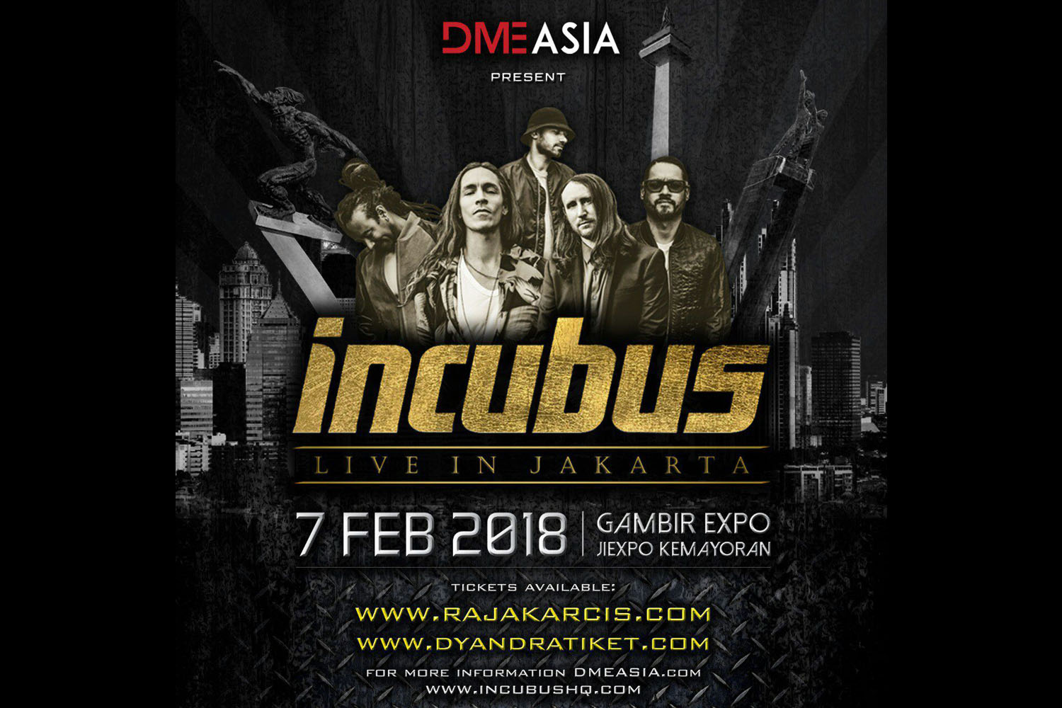 Incubus Songs List Simple nhbl - incubus is set to return to jakarta for the third time