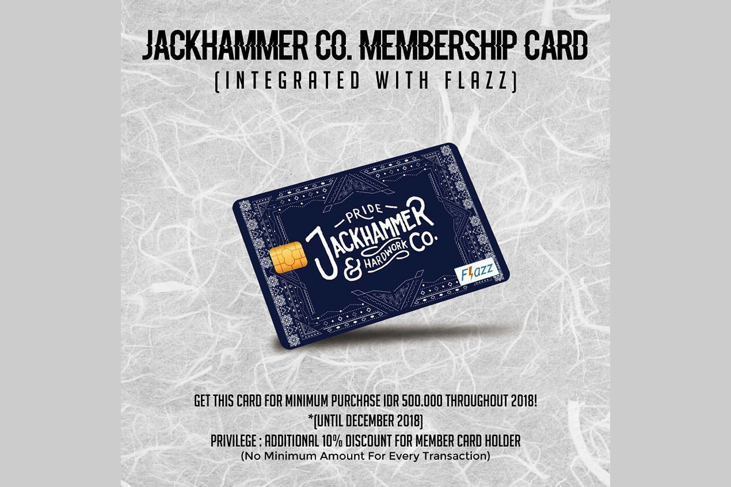 Nhbl Jackhammer Co Rewards Loyal Customers With Membership Card Flazz The Bca Integrated Is Dedicated For Repeating Who Regularly Purchase Their Products