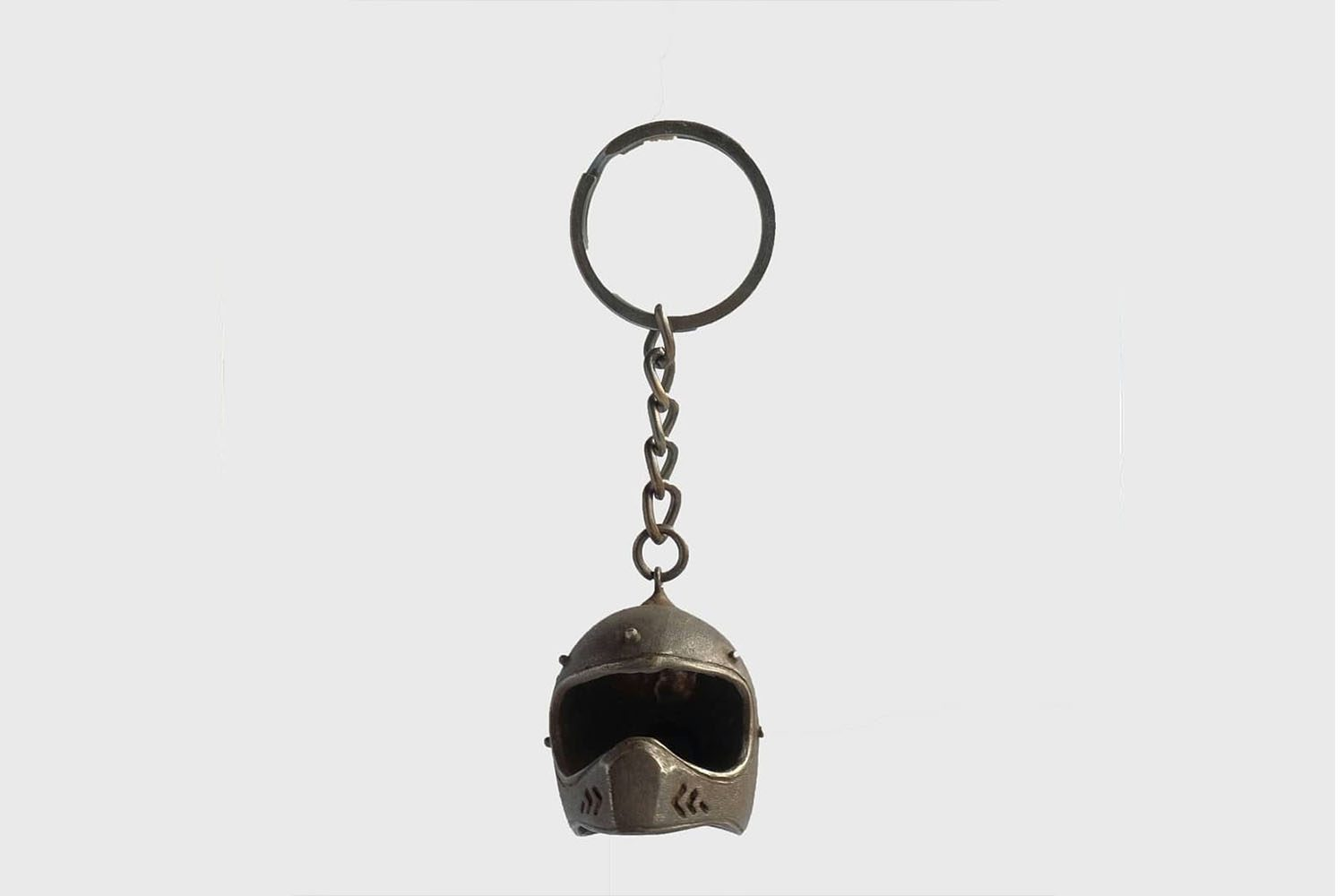 RIDERS AND RULES RR METAL KEYCHAIN